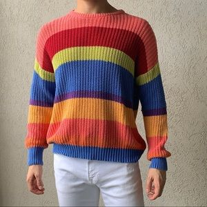 American Apparel Rainbow Sweater